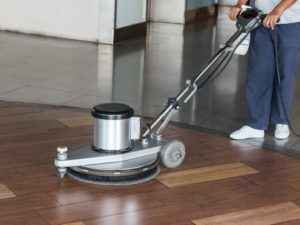 commercial floor buff and wax